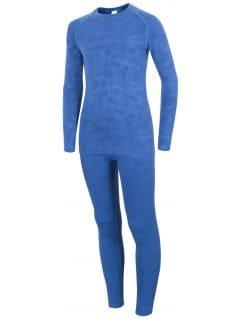 Seamless underwear (top + bottom) for older children (girls) JBIDB400 - cobalt blue
