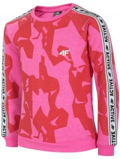 Hoodie for older children (girls) JBLD215  - fuchsia
