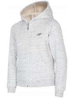 Hoodie for older children (girls) JBLD217 - light grey melange