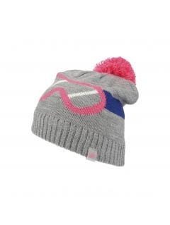 Hat for older children (girls) JCAD211 - grey melange