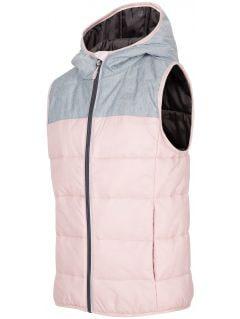 Down vest for older children (girls) JKUDB200 - grey melange