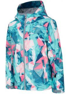 Ski jacket for younger children (girls) JKUDN301 - mint allover