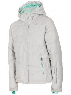 Ski jacket for older children (girls) JKUDN400 - grey melange