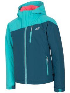Ski jacket for older children (girls) JKUDN402 - sea green