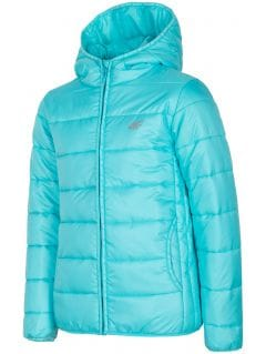 Down jacket for older children (girls) JKUDP201a - mint