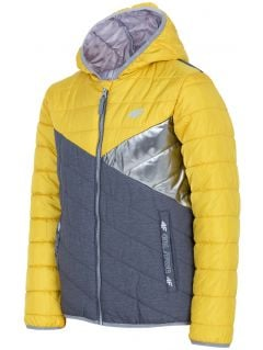 Down jacket for older children (girls) JKUDP202 - yellow