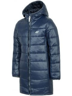 Down jacket for older children (girls) JKUDP203A - navy