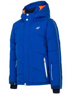 Ski jacket for older children (boys) JKUMN400 - cobalt blue