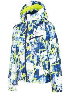Ski jacket for older children (boys) JKUMN403 - fresh green