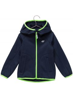 Fleece hoodie for younger children (boys) JPLM101 - navy