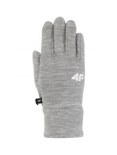 Gloves for older children (girls) JRED200 - light grey melange