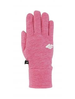 Gloves for older children (girls) JRED200 - fuchsia melange