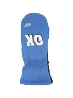Ski gloves for younger children (boys)  JREM300 - cobalt blue