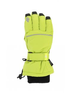Ski gloves for older children (boys) JREM401 - fresh green