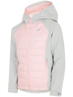 Softshell jacket for older children (girls) JSFD200 - grey melange