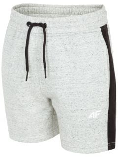 Knit shorts for older children (boys) JSKMD200 - light grey melange