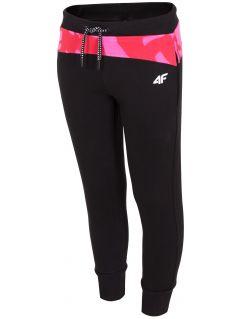 Sweatpants for older children (girls) JSPDD209 - black