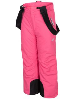 Ski pants for younger children (girls) JSPDN301 - fuchsia