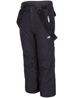 Ski pants for older children (girls) JSPDN400 - black