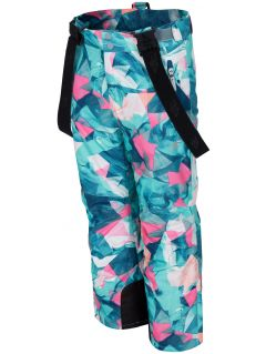 Ski pants for older children (girls) JSPDN402 - mint allover