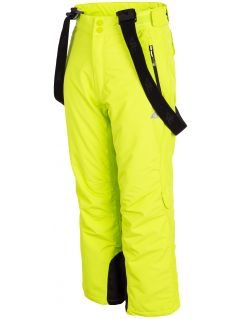Ski pants for older children (boys) JSPMN400 - fresh green
