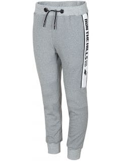 Active pants for older children (boys) JSPMTR405 - grey melange