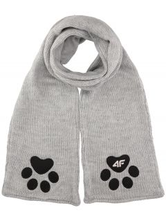 Scarf for younger children (girls) JSZD101 - medium grey