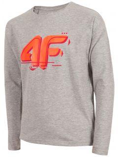 Long sleeve shirt for older children (girls) JTSDL204a - grey melange