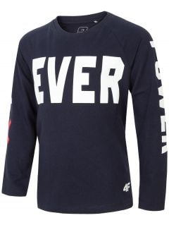 Long sleeve T-shirt for older children (boys) JTSML104A - navy