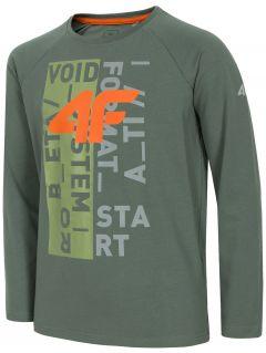 Long sleeve T-shirt for older children (boys) JTSML220a - khaki