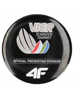 Round pin badge 4Hills AKU503 - black