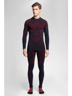 Men's seamless underwear (top + bottom) 4Hills BIMB100 - red