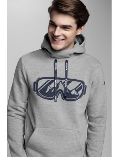 Men's hoodie Kamil Stoch Collection BLM503 - grey melange
