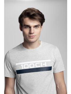 Men's T-shirt Kamil Stoch Collection TSM503 - grey melange