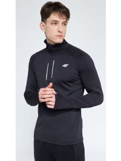 Men's active sweatshirt BLMF002 - dark grey melange