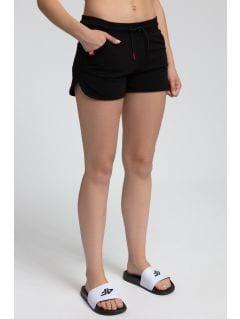 Women's knit shorts SKDD300 - black