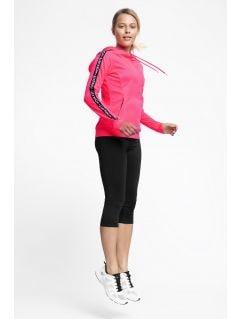 Women's active hoodie BLDF201 - coral neon