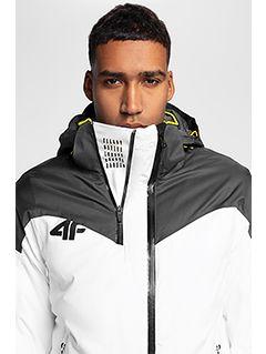 Men's ski jacket KUMN152 - white