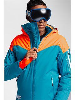 Men's ski jacket KUMN152 - turquoise