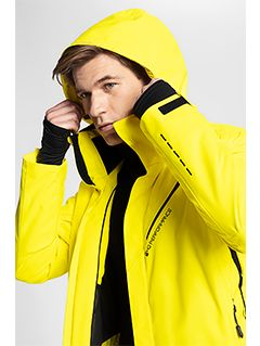 Men's ski jacket KUMN154 - yellow