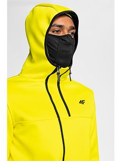Men's fleece hoodie PLM251 - yellow