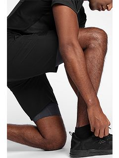 Men's active shorts SKMF150 - black