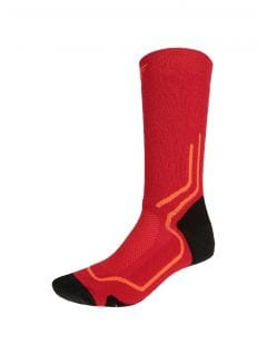 Unisex trekking socks SOUT200 - red