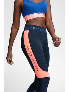 Women's active leggings SPDF104 - navy