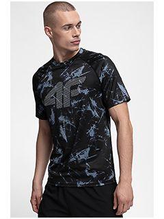 Men's active T-shirt TSMF150 - black allover