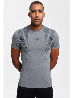 Men's active T-shirt TSMF204 - medium grey melange