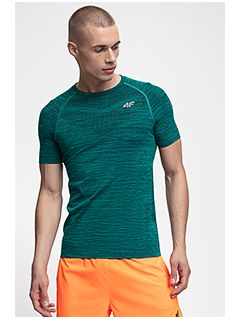 Men's active T-shirt TSMF258 - dark green melange