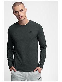 Men's long sleeve T-shirt TSML301 - dark grey melange