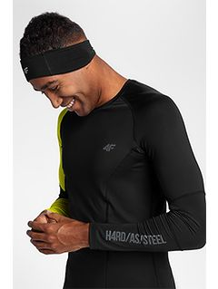 Men's active long sleeve shirt TSMLF152 - black allover