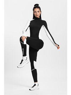 Women's active leggings 4FPro Skirunning SPDF401 - black
